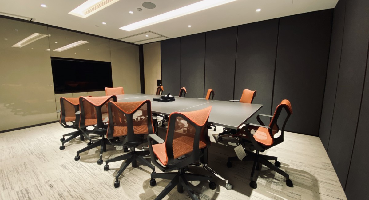 灣仔共享工作空間內的會議室